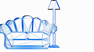 Rotation of 3D Sofa and Table lamp.furniture,modern,interior,sofa,couch,style,de Animation