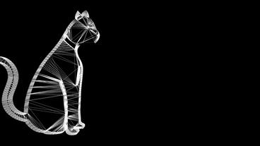 Rotation of 3D cat.feline,cute,pet,kitty,animal,kitten,young,fur,furry,adorable Animation