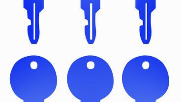 Rotation of key.lock,skeleton,antique,open,door,safe,house,secret,latchkey Animation