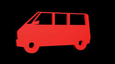 Rotation of 3D Van... Stock Video Footage