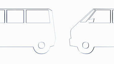Rotation of 3D Van bus.car,transportation,bus,vehicle,coach,transport,passenger, Animation