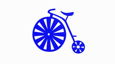 Rotation of 3D bicycle.Transportation,traffic,sports,fitness,Circus,wheelbarrow, Animation