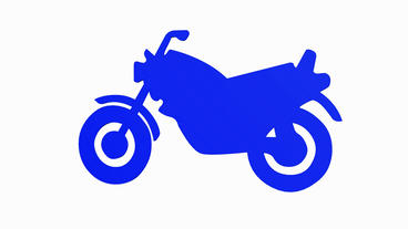 Rotation Of 3D Motorcycle.motorbike,ride,bike,motor,cycle,transport,wheel,vehicle,speed,power,engine stock footage