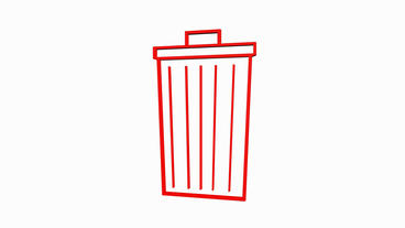 Rotation of 3D Trash.plastic,recycling,waste,garbage,bin,container,pollution Animation