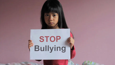 Stop Bullying Sad Little Girl Footage