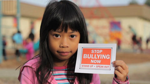 Stop Bullying Now Message Close Up Stock Video Footage