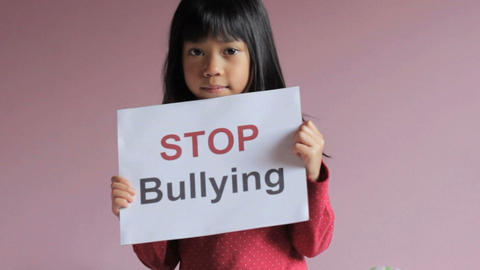 Stop Bullying Sign Stock Video Footage