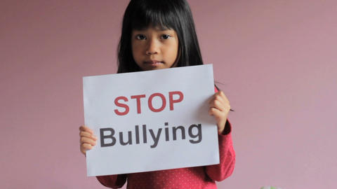Stop Bullying Sign Footage