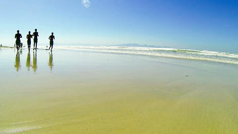Running in the sand Stock Video Footage