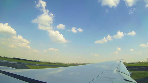 Moving clouds, airplain in the sky Footage