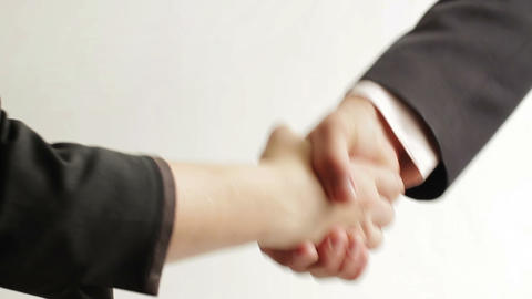 Business people shaking hands Footage