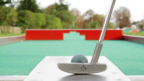 Mini Golf stock footage