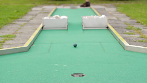 Mini golf Stock Video Footage