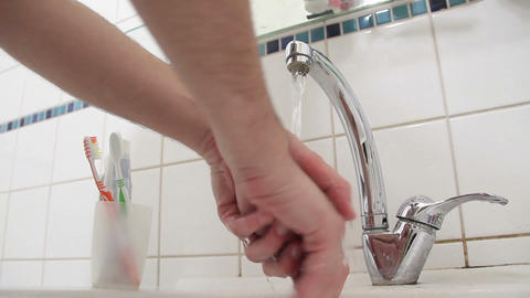 Washing hands Stock Video Footage