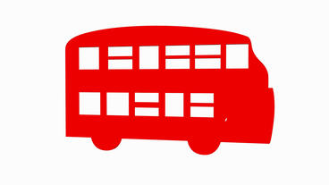 Rotation Of 3D Double-decker Bus.car,transportation,bus,vehicle,coach,transport,passenger,public stock footage