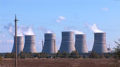 Nuclear Power Station a Footage