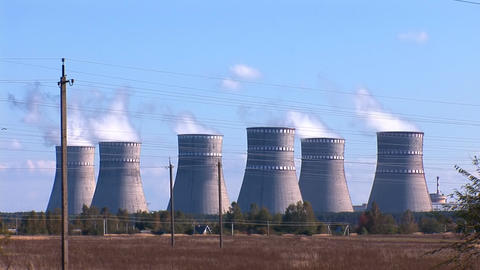 Nuclear Power Station a Stock Video Footage