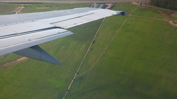 Airplane Wing stock footage