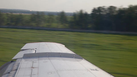 Airplane wing Stock Video Footage