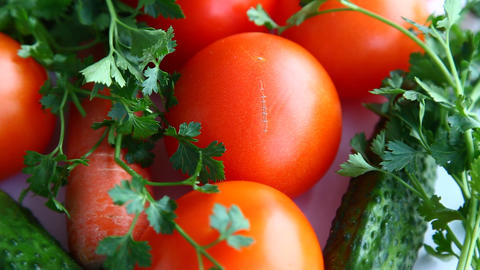 Fresh Vegetables stock footage