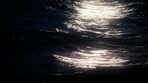 Moonlight on the Ocean Stock Video Footage