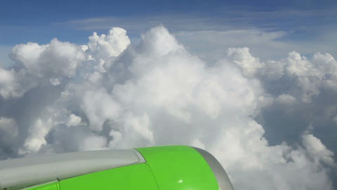 Through the clouds Stock Video Footage