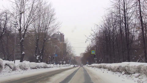Typical street in Novosibirsk Stock Video Footage