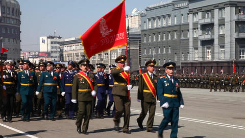 Military parade Stock Video Footage