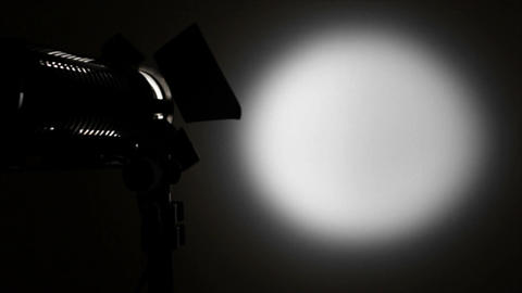 Light spot on the background vibrating Stock Video Footage