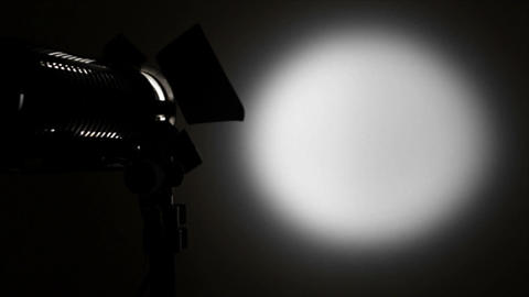Light Spot On The Background Vibrating. stock footage