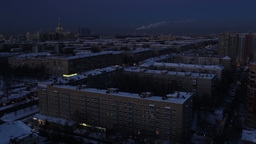 Night falls over the city. Time lapse Stock Video Footage