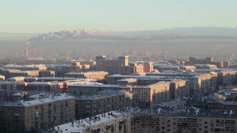 Sunrise over the city. Time lapse. Urban cityscape Stock Video Footage