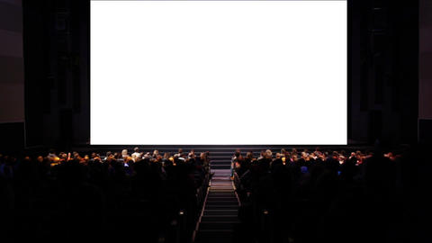 Viewers in the cinema house. Variant II Stock Video Footage