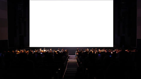 Viewers in the cinema house. Variant II Footage