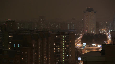 Night city highway time lapse Stock Video Footage