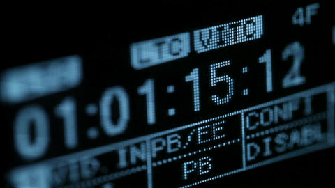 Running timecode on the vcr. Focus pulling Stock Video Footage