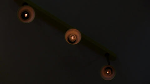 Three blinking light bulbs Footage