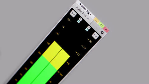 Digital equalizer in film editing soft Footage