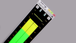 Digital equalizer in film editing soft Stock Video Footage
