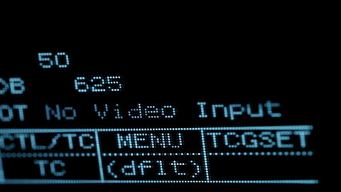Blinking no video input signal on the professional vcr Stock Video Footage