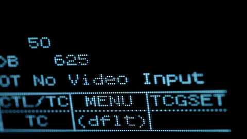 Blinking no video input signal on the professional vcr Footage