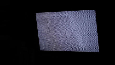 TV panel with white noise and sound Footage