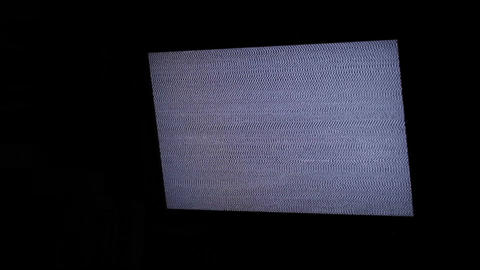 TV panel with white noise and sound Stock Video Footage