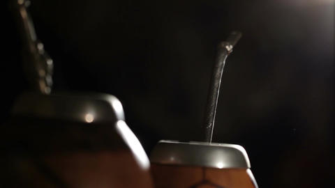Yerba mate. Macro shot Stock Video Footage