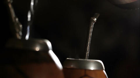 Yerba mate. Macro shot Footage
