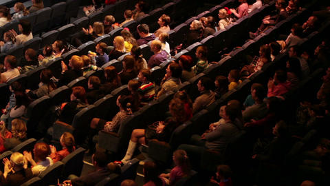 People at the theatre performance Stock Video Footage