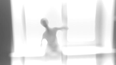 Defocused vintage shot of alien Stock Video Footage