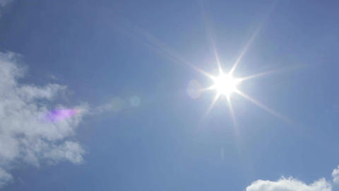 Aircraft in the sky. Sun rays Stock Video Footage