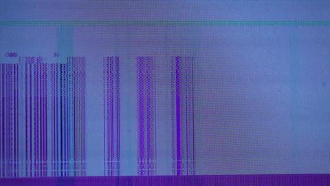 Abstract dark blue background - broken display Stock Video Footage