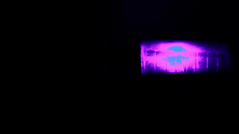 Red and blue car flashers. Macro shot with sound Stock Video Footage
